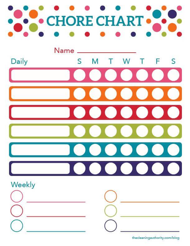 Free Printable: Summer Chore Chart