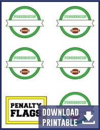 Penalty Flag Printable labels