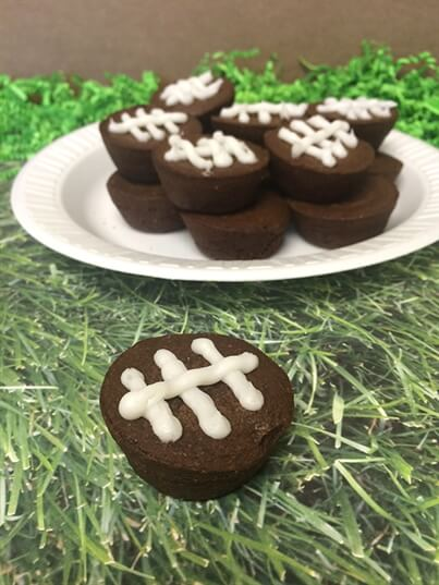 Football-Shaped Brownies