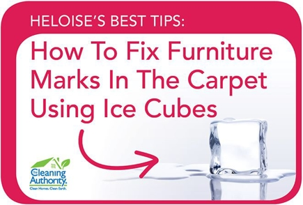 Infographic: How to Fix Furniture Marks In The Carpet Using Ice Cubes
