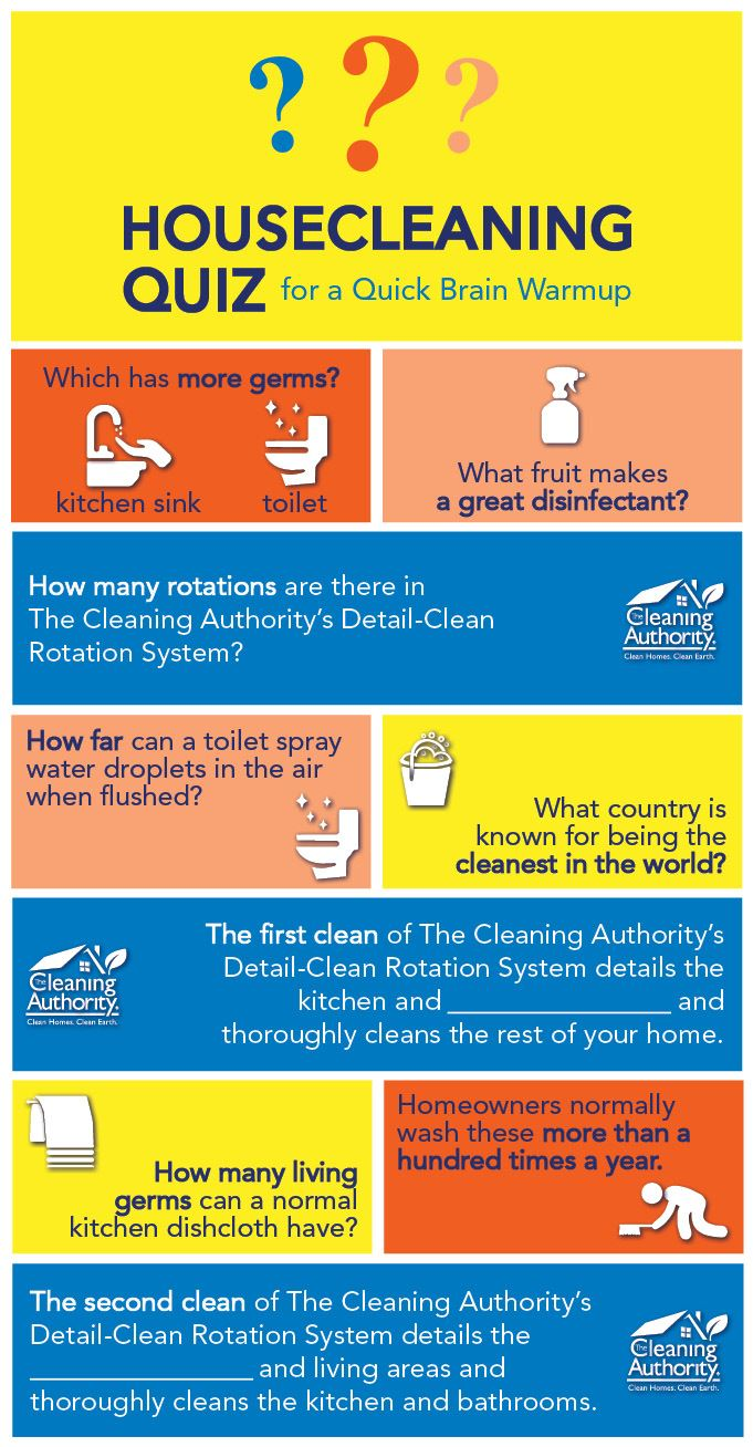 Warmup your brain with our housecleaning quiz!