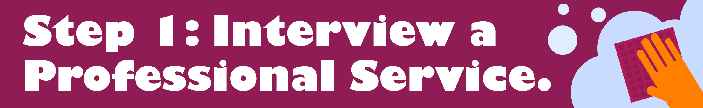 Interview a professional service