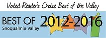 Voted Reader's Choice Best of the Valley 2012-2016