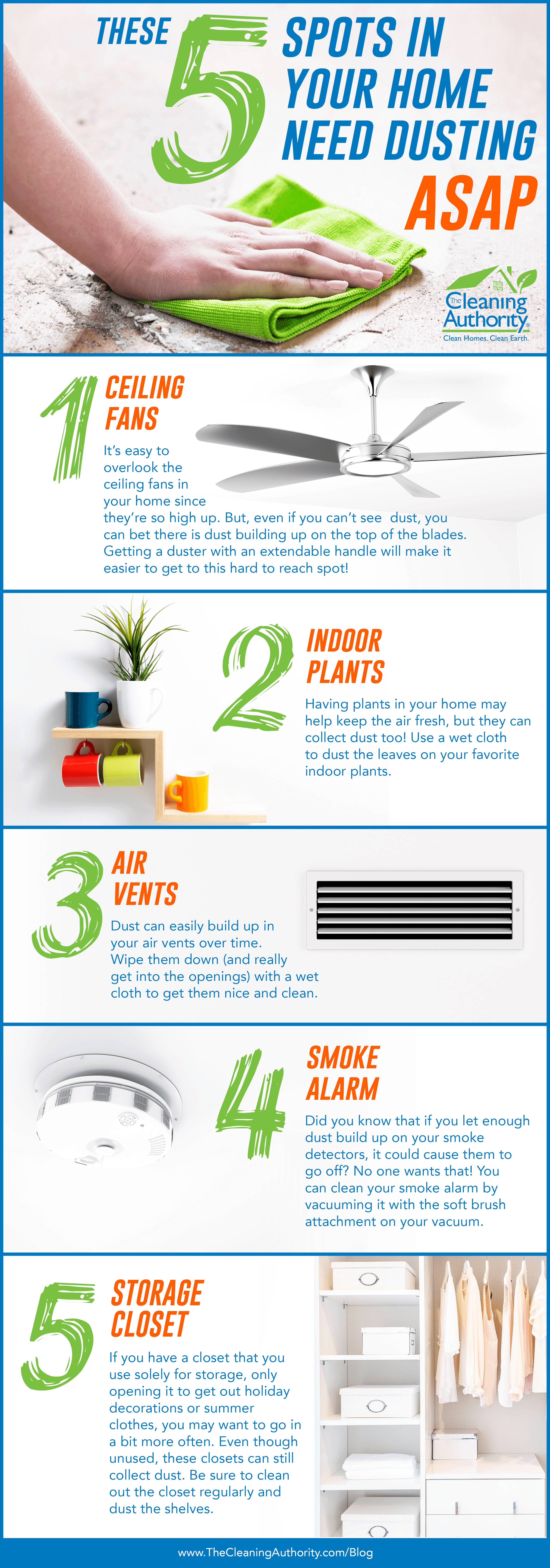 These Five Spots in Your Home Need Dusting  infographic