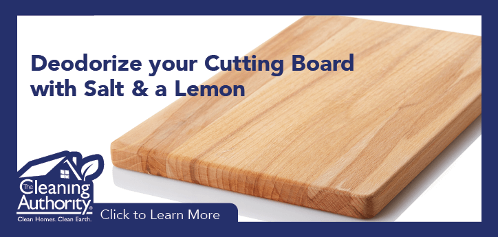 Deodorize your cutting board with salt & lemon