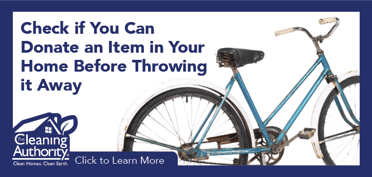 Check if you can donate an item in your home before throwing it away