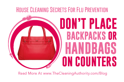 Flu Prevention: Don't Place Backpacks or Handbags On Counters