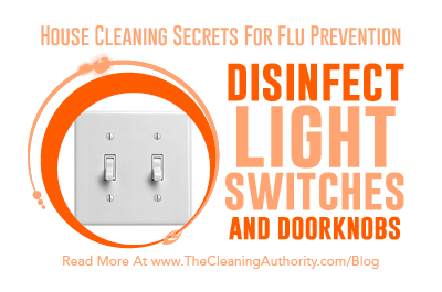 Flu Prevention: Disinfect Light Switches & Doorknobs