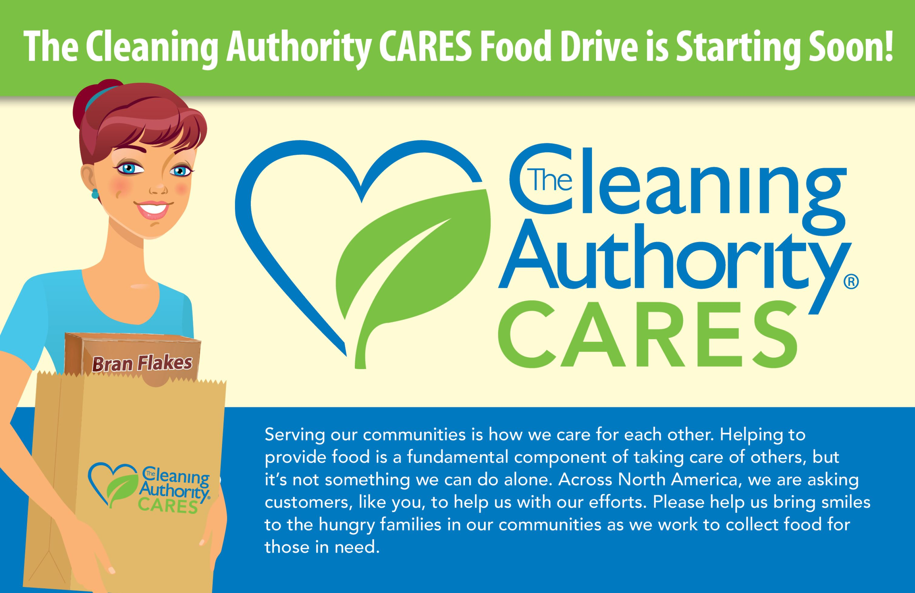"Infographic: ""The Cleaning Authority Cares Food Drive"" is Starting Soon"