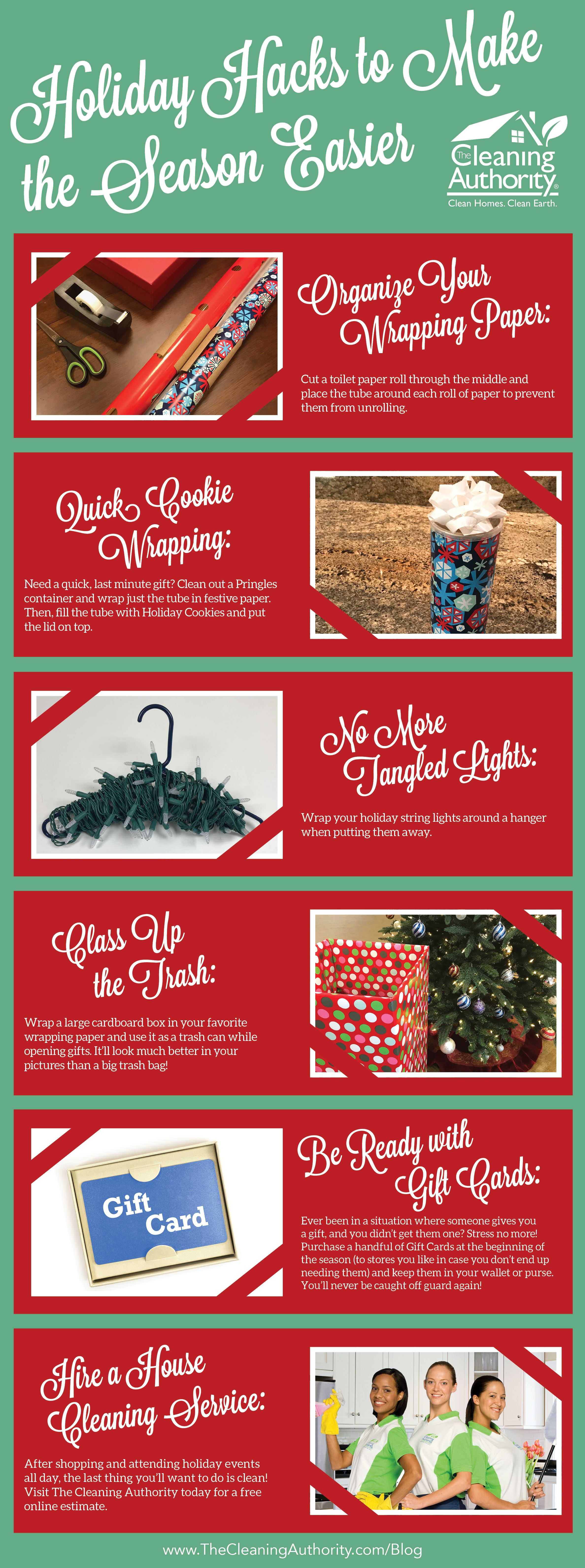Holiday Hacks to Make the Season Easier infographic