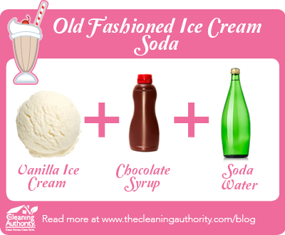 Infographic: Old Fashioned Ice Cream Soda Recipe