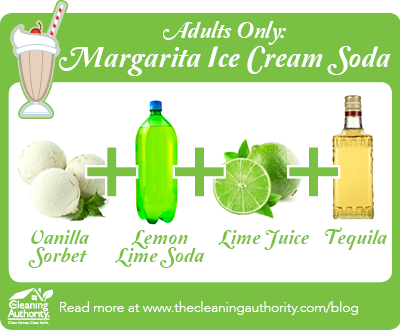 Infographic: Margarita Ice Cream Soda Recipe