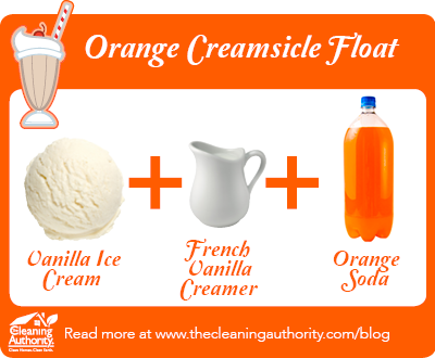 Infographic: Orange Creamsicle Float Recipe