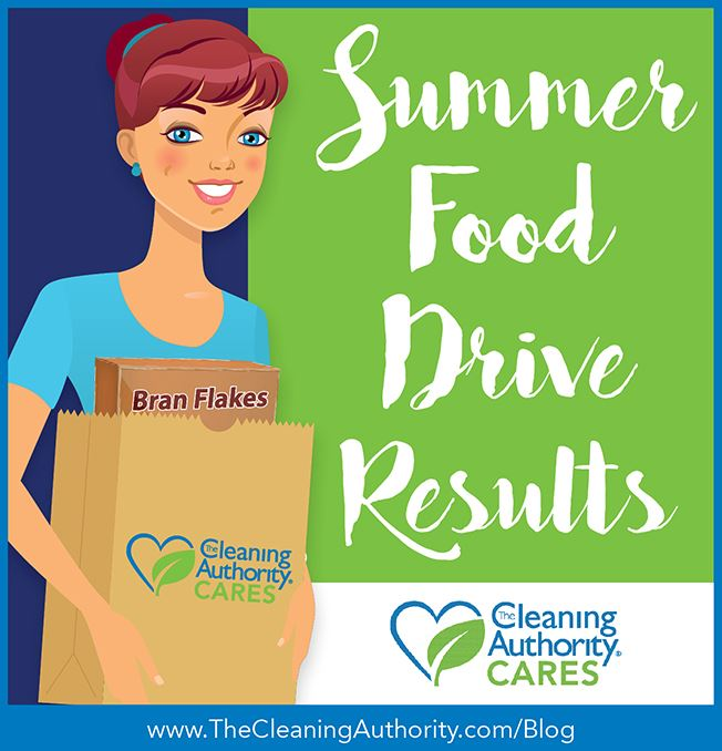 The Cleaning Authority CARES Summer Food Drive Results