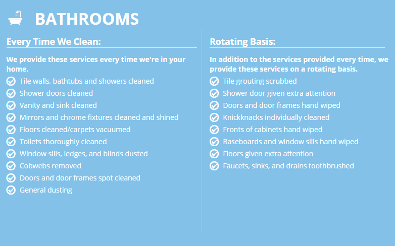Infographic: Bathroom Cleaning