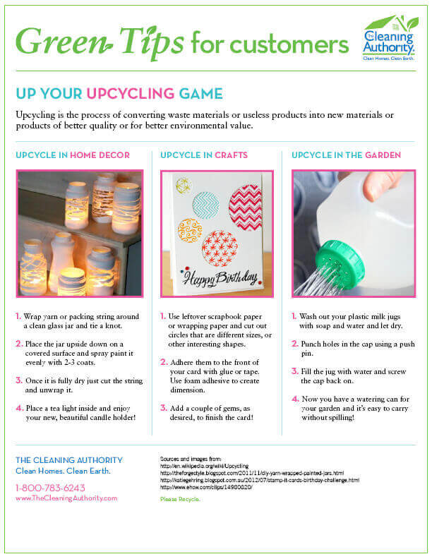 Upcycling Tips for home decor, crafts, and gardening