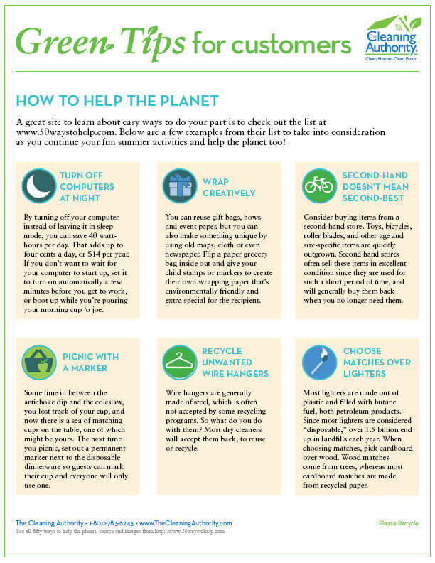 Green Tips: Helping The Planet