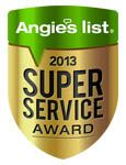 Anglies List, 2013 Super Service Award Logo