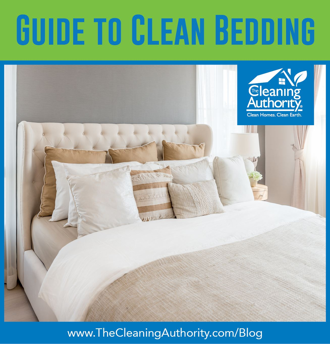 nicely made bed with header Guide to Clean Bedding